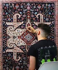 jason seife s hand painted persian carpets are impossibly ornate