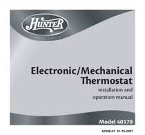 hunter 40170 thermostat wiring diagram fan hunter wiring hunter thermostat wiring diagram fan description also see for hunter 40170