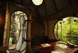 Beautiful Tree House Inside 9 Free Spirit Spheres O Throughout Simple Ideas