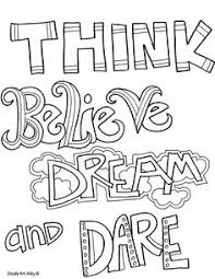 Small Picture Doodle coloring pages with quotes inspirational words For the