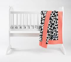 leopard print baby blanket and cushion gift set