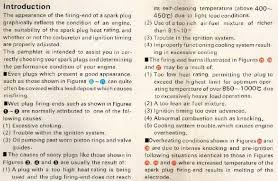 Spark Color Chart Spark Plugs