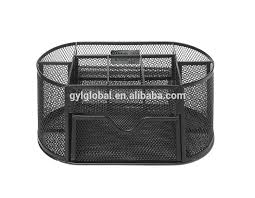 desk organizer black metal wire mesh 8 compartment office school supply desktop organizer caddy with