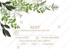 Rsvp Template Online Rsvp Greenery Herbal Template Watercolor Edit Online 5x3 5 In Pdf