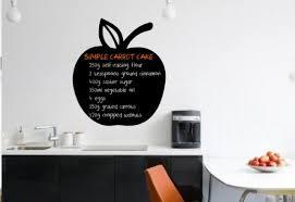 apple chalkboard kitchen fridge