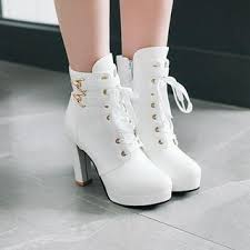 Yesstyle Shoe Size Chart Lace Up High Heel Short Boots