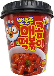 Pororo Tteokbokki Hot Spicy Instant Cup Rice Cake Stir Fried Korean