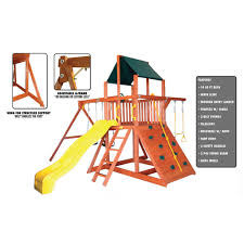 orangutan fort premium cedar wooden swing set features