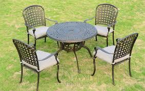 cast aluminum patio chairs. 5-piece Cast Aluminum Patio Furniture Garden Outdoor Chairs