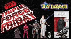 Triple Force Friday New Star Wars The Black Series Figures
