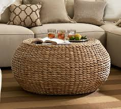 coffee table round wicker coffee table ottoman the why furniture design ideas woven tables remarkable glass