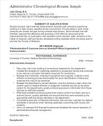 Free Chronological Resume Template Interesting Chronological Resume Template 48 Free Word PDF Documents