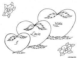 Coloriage Amour Coeur Dessin Imprimer Gratuit