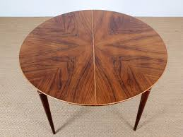 danish mid century modern round dining table by illum wikkelsø