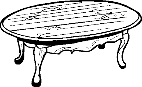 coffee table clipart black and white. 8704 coffee table clipart black and white e