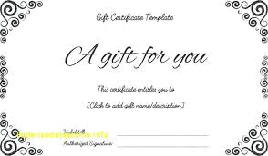 Free Gift Voucher Template For Word Free Printable Gift Certificate Template Word Beadesigner Co
