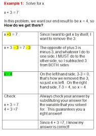 best solving algebraic equations ideas solving  great step by step lessons on solving algebraic equations