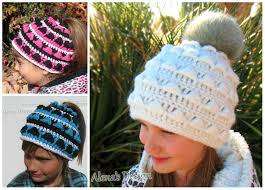 Ponytail Hat Crochet Pattern New Crochet Pattern 48 Colored Ponytail Hat By AlenasDesign On Zibbet