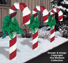 Candy Cane Yard Decorations All Christmas Landscape Timber Candy Cane Plans 45