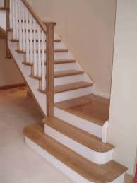 Painted Wood Stairs Oak And White Staircase Google Search Stairs Pinterest