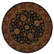 heritage black red 8 ft x 8 ft round area rug