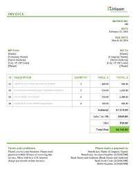 Invoice Example Word 19 Blank Invoice Templates Microsoft Word