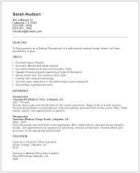 Receptionist Resume Objective Amazing Resume For Receptionist Resume For Receptionist Resume For