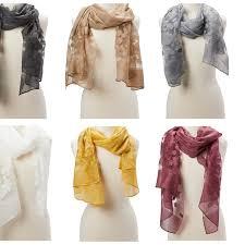 women fl sheer scarf beautiful