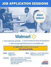 Walmart Application Register For Walmart Job Application Prescreening Events