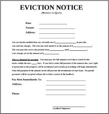 Eviction Notices Template Blank Free Eviction Notice Template PDF Word 21