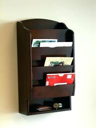 wall mounted mail organizer storage wall mount letter mail organizer key holder compartment shelves door entry