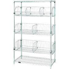 small wire shelving unit shelf basket shelves storage medium image narrow nar