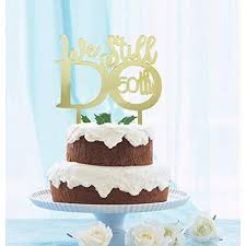 Grantparty Mirror Gold 50th Anniversary Cake Topper We Still