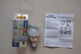 Обзор на Светодиодная <b>лампа Uniel LED-G45-6W/WW/E27/FR</b> ...