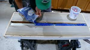 gluing glass to wood picture of fire glass and resin third pour gluing glass beads gluing glass to wood