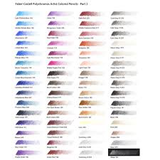 Faber Castell Polychromos Color Chart Faber Castell Polychromos Artist Colour Pencil Tin Colours Of 12
