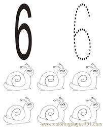 Small Picture Number 6 Coloring Pages 7 Com Coloring Page Free Numbers