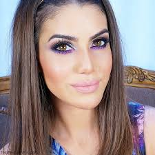 party makeup look with silver accents by camila coelho using using stila and urban decay eyeshadow palettes then added a touch of purple color on lower