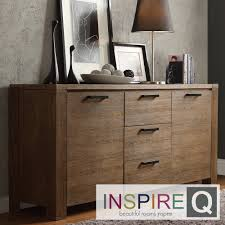 Its modern rustic design with walnut finish also gives a clean, bold  country look. Three deep middle drawers in the middle provide ...