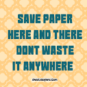Essay on save paper save environment