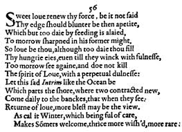 sonnet commentaries  sonnet 56