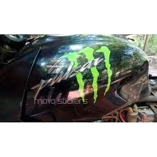 Bajaj Pulsar Monster Stickering Alteration Car And Bike Stickers