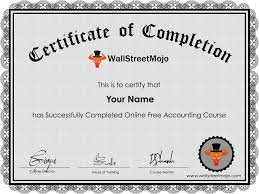 What Is Course Completion Certificate Free Accounting Course Online 2 Video Tutorials Free