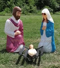 Lighted Nativity Set For Yard Outdoor Nativity Holy Family Life Size Lighted Nativity Set