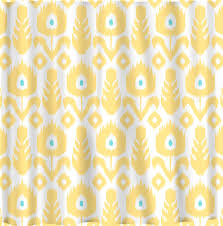 custom ikat chevron shower curtain any color shown with regard to sizing 1183 x 1200
