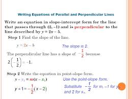 1 5 practice writing equations of parallel and perpendicular lines