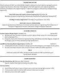 No Experience Chemical Engineering Graduate Resume Critique