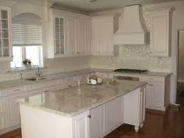 White Kitchen Granite Countertops Beautiful Mother Of Pearl Tile For Home Improvement White Granite