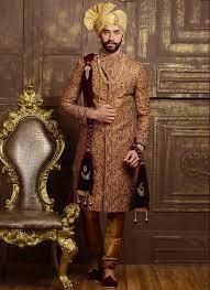 Groom Sherwani Latest Design Maroon Embroidered Jacquard Silk Latest Shervani For Groom