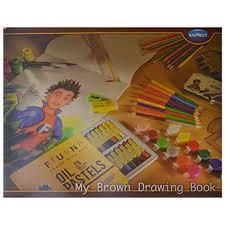 navneet drawing book brown brown set of 12